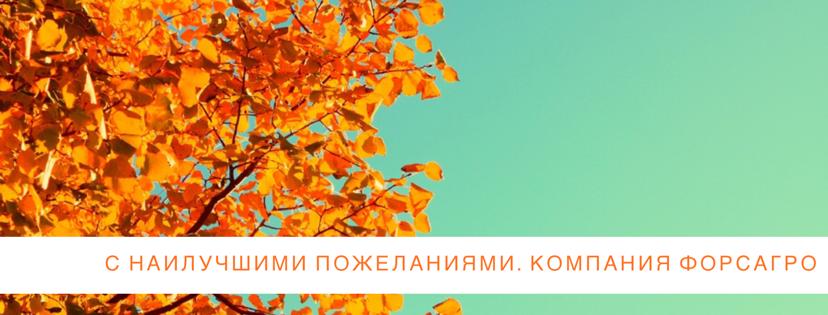 Осень для АПК